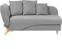 Left Hand Fabric Chaise Lounge with Storage Light