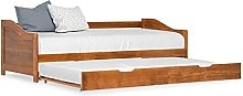 LEFTLY Pinewood Pull-out Sofa Bed Frame Honey