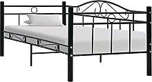 LEFTLY Single DayBed Sofa Bed Frame Black Metal