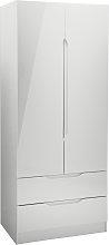 Legato 2 Door 2 Drawers Wardrobe - Grey Gloss