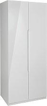 Legato 2 Door Wardrobe - Grey Gloss