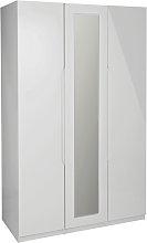 Legato 3 Door Wardrobe - Grey Gloss