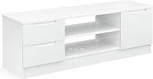 Legato Gloss 1 Door 2 Drawer TV Unit - White