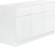 Legato Gloss 3 Door 3 Drawer Sideboard - White