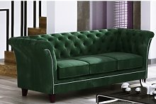 Legault 3 Seater Chesterfield Sofa Rosalind