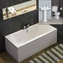 Legend Traditional Bath Suite Toilet, Basin,
