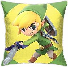 Legend Zelda Cartoon Square Pillowcase Soft Plush