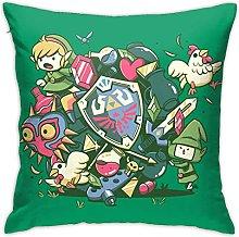 Legend Zelda Square Pillowcase Soft Plush Living