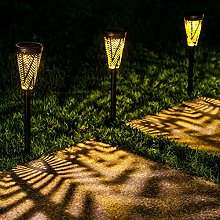 LeiDrail Solar Pathway Lights Christmas Garden