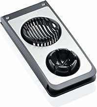 Leifheit Egg cutter Combi in black/grey, Stainless