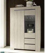 Leilani Wooden Display Cabinet In Beige Oak