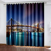 LEIMAS Modern Soundproof Curtains The View Of The