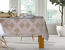 Leiper Tablecloth 150 x 250 Taupe