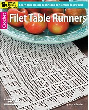 Leisure Arts Filet Table Runners, White