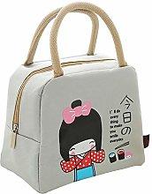 Leisure Portable Lunch Bag Cute Cartoon Insulated