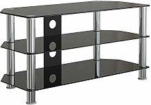 Leisure Zone Glass TV Stand Table Unit Corner TV