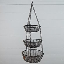 Leitha Wire Wrapped 3 Tier Hanging Basket Brambly
