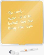 Leitz Cosy Magnetic Glass Whiteboard, Yellow