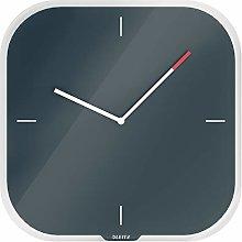 Leitz Glass Wall Clock, Cosy Range, Velvet Grey,