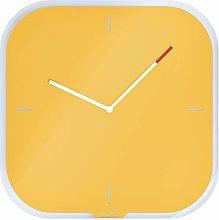 Leitz Glass Wall Clock, Cosy Range, Warm Yellow,