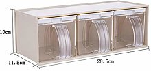 LEIXNDPLBO 1800ml Clear Seasoning Rack Spice Jar