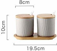 LEIXNDPLBO Household Ceramic Spice Jar Sugar Salt
