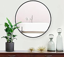 Lekesky Wall Mirror Black Round Circle Framed