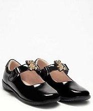 Lelli Kelly Fuzzy Bear Dolly School Shoe - Black