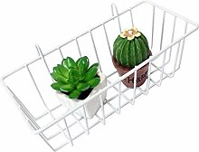 Lembeauty Iron Hanging Wire Basket for Wall Grid