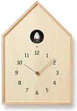 Lemnos - Birdhouse Cuckoo Clock Natural - White