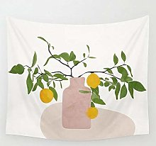 Lemon Branches Tapestry Wall Hanging Beach Throw