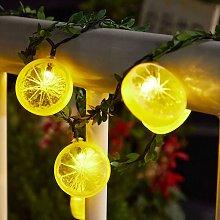 Lemon Decor String Lights, Lemon Garland Wreath