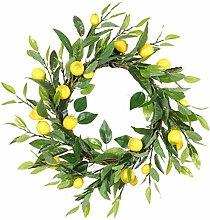 Lemon Decoration Door Wreath Hanging Garland