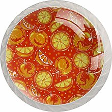 Lemon Pattern Drawer Round Knobs Cabinet Pull