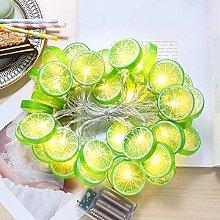 Lemon Slice Lights Rope String Fairy LED Fruit