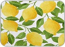 Lemon Yellow Lime Tree Dish Drying Mat Large