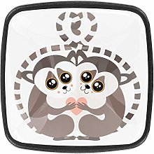 Lemur 4 Packs Kitchen Cabinet Knobs,Pulls Cupboard