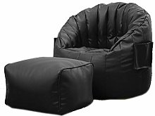 length Leather Lazy Couch Tatami Bean Bag Bedroom