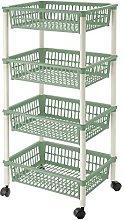 Lennox Greenery Cart 4 Baskets 30 x 18 x 40 cm