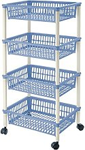 Lennox - Greenery Cart 4 Baskets 40x85 Myth Blue