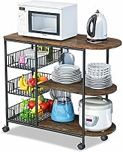 LENTIA Kitchen Cart Storage Trolley with