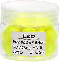 LEO - 30pcs Bean Shape EPS Fishing Foam Float Ball