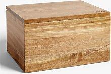 LEON Acacia Wood Bread Bin, 10L, Natural