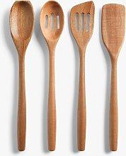 LEON Acacia Wood Kitchen Utensil Set, 4 Piece,