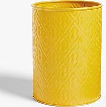 LEON Embossed Steel Utensil Pot, Yellow