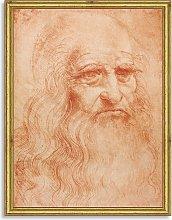 Leonardo da Vinci - Portrait of a Man Wood Framed