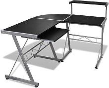 Leonetti L-Shape Computer Desk by Black - Ebern