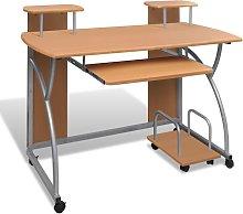 Leong Computer Desk by Brown - Ebern Designs