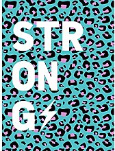 Leopard Blue And Purple Words Strong Art Print