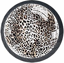 Leopard Design Pattern 4 Packs Kitchen Cabinet